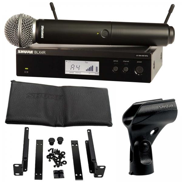 Sistem profesional wireless original Shure BLX24R/SM58, microfon si receiver 1