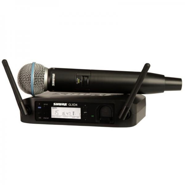 Microfon wireless Shure GLXD24R/B58, original, receiver si microfon 0