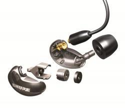 Casti profesionale in-ear Shure SE215-CL-EFS, cu super izolare fonica, transparent [2]