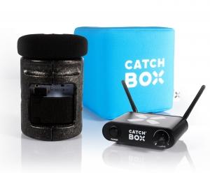 Microfon wireless CatchBox Lite, pentru conferinte de 100 persoane, culoare albastra [0]
