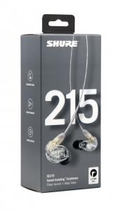 Casti profesionale in-ear Shure SE215-CL-EFS, cu super izolare fonica, transparent [6]