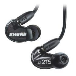 Casti profesionale in-ear Shure SE215-K-UNI-EFS, cu microfon, super izolare fonica, black0