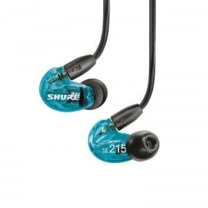 Casti profesionale in-ear Shure SE215SPE-B-UNI-EFS, Special Edition, cu super izolare fonica, albastru0