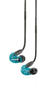 Casti profesionale in-ear Shure SE215SPE-B-UNI-EFS, Special Edition, cu super izolare fonica, albastru [5]