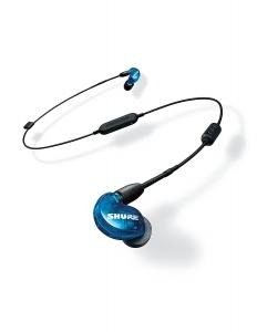 Casti profesionale in-ear Shure SE215SPE-B-UNI-EFS, Special Edition, cu super izolare fonica, albastru2