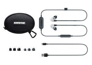 Casti profesionale in-ear Shure SE215-CL-BT1-EFS,  Bluetooth, Wireless, cu super izolare fonica, transparent [2]