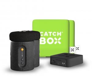Microfon wireless CatchBox Plus, pentru conferinte de 1000 persoane, culoare verde [1]