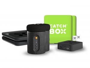 Microfon wireless CatchBox Plus, pentru conferinte de 1000 persoane, culoare verde [0]