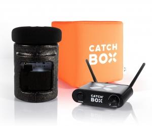 Microfon wireless CatchBox Lite, pentru conferinte de 100 persoane, culoare orange0