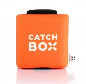 Microfon wireless CatchBox Lite, pentru conferinte de 100 persoane, culoare orange1