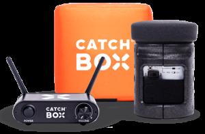 Microfon wireless CatchBox Lite, pentru conferinte de 100 persoane, culoare orange2