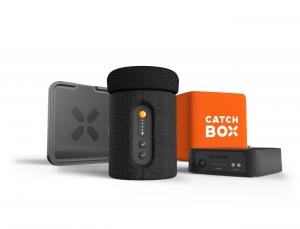 Microfon wireless CatchBox Plus, pentru conferinte de 1000 persoane, culoare orange2