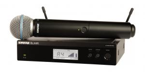 Sistem profesional wireless original Shure BLX24R/B58, microfon si receive0