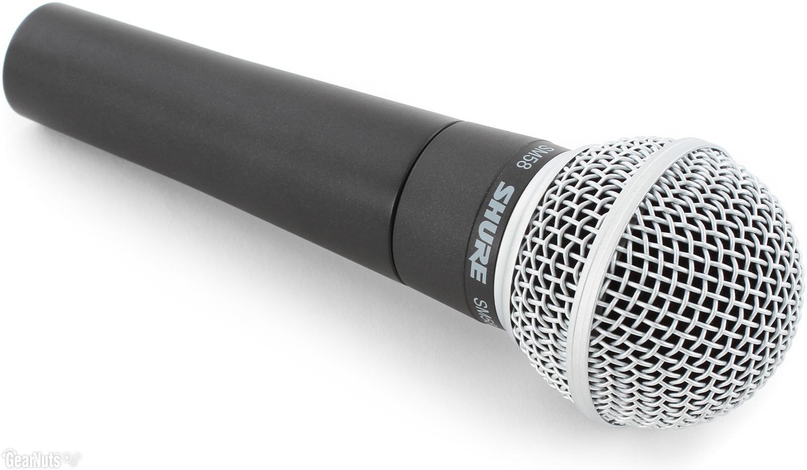 Microfon Shure SM58 original, profesional, cardioid, cu switch On/Off