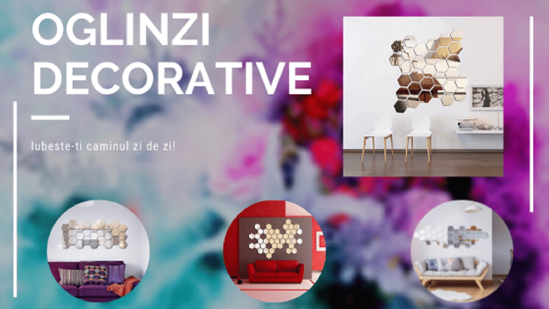 Set 12 Oglinzi Decorative - Sticker 3M