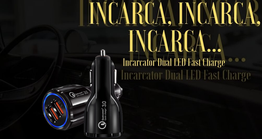 Incarcator Auto 2x USB 3.1A Fast & Safe Charge Qualcomm 3.0 Tehnology Multiple Protectii