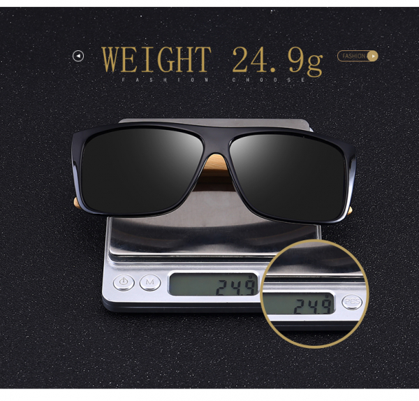 Ochelari Soare cu Rame Bambus si Protectie UV400 - Unisex 6