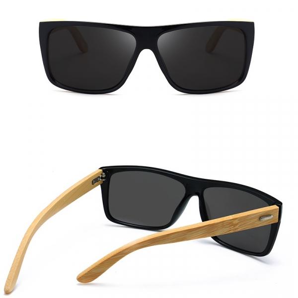 Ochelari Soare cu Rame Bambus si Protectie UV400 - Unisex 1