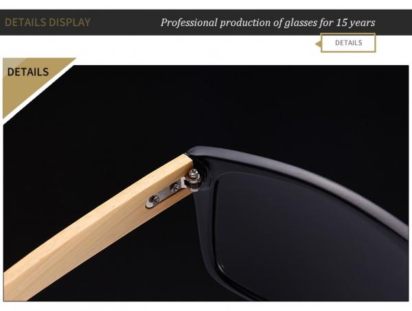 Ochelari Soare cu Rame Bambus si Protectie UV400 - Unisex 3