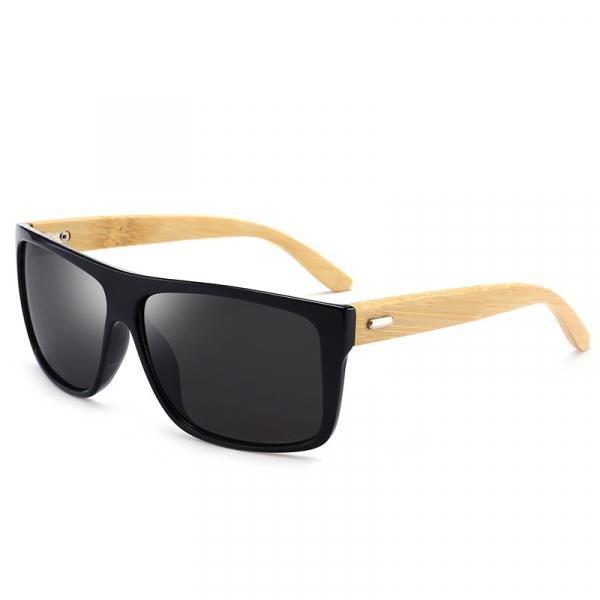 Ochelari Soare cu Rame Bambus si Protectie UV400 - Unisex 0