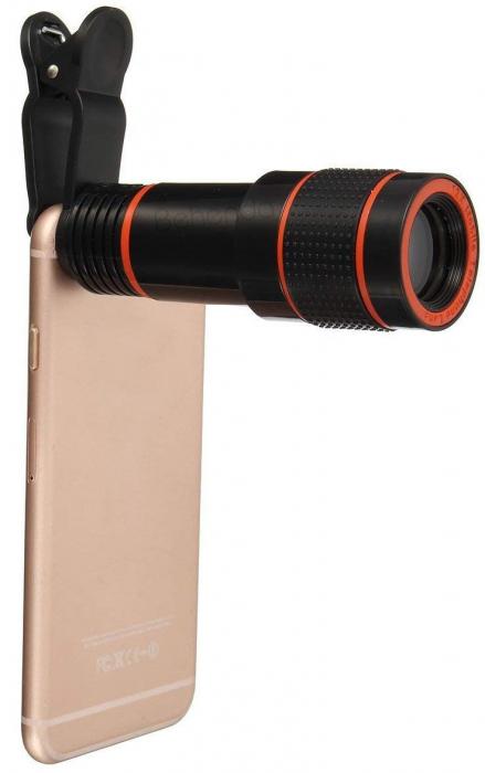 Telescop Lentila Optica Zoom 12x  Pentru Telefon Mobil sau Tableta  Obiectiv telefon Lentila Telefon  Fotografii  poze telefon 5
