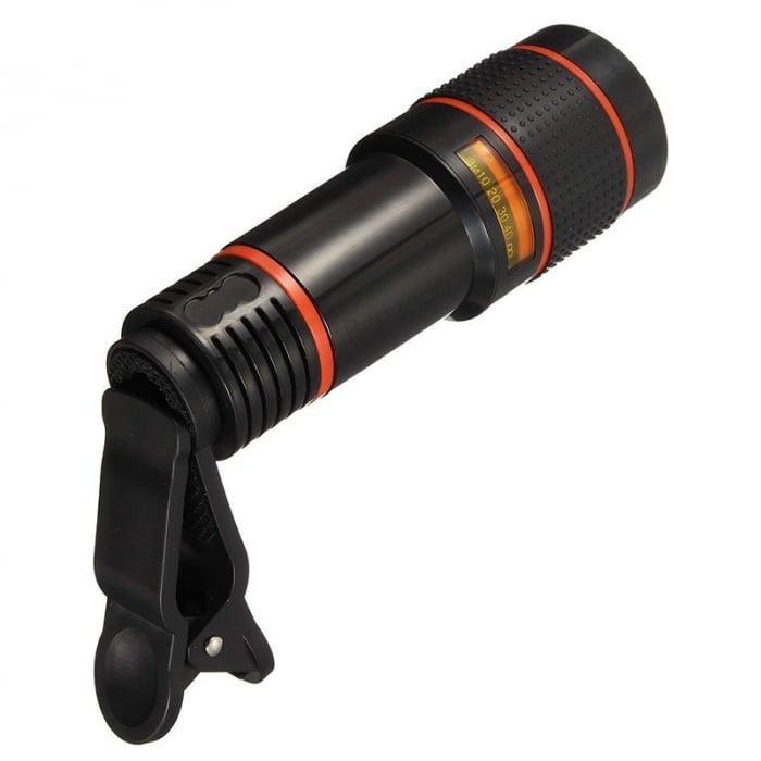 Telescop Lentila Optica Zoom 12x  Pentru Telefon Mobil sau Tableta  Obiectiv telefon Lentila Telefon  Fotografii  poze telefon 2