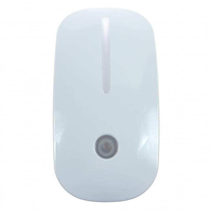 Lampa de Veghe cu Senzor de Lumina, tip Mouse pentru Priza, Lumina Alba, Consum Redus 1W, Universal, Alb 2