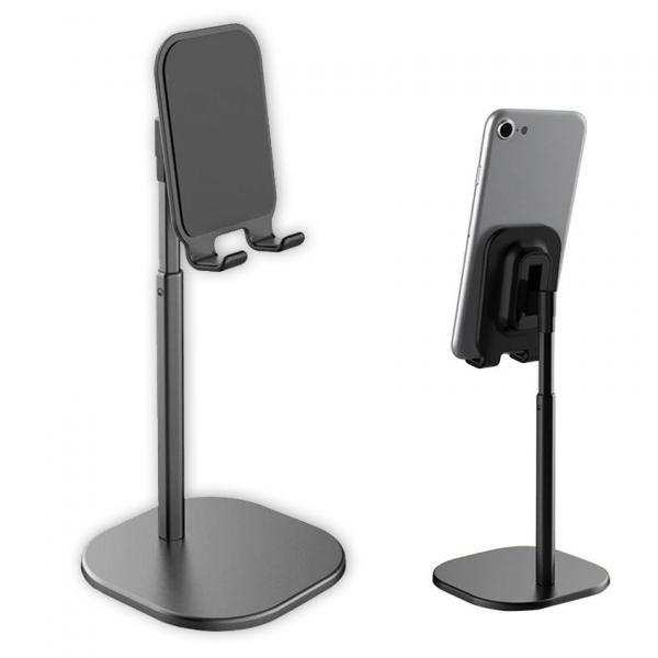 Suport Premium Metalic pentru Tableta sau Telefon cu Inaltime si Unghi de Vizualizare Reglabil - Negru 10