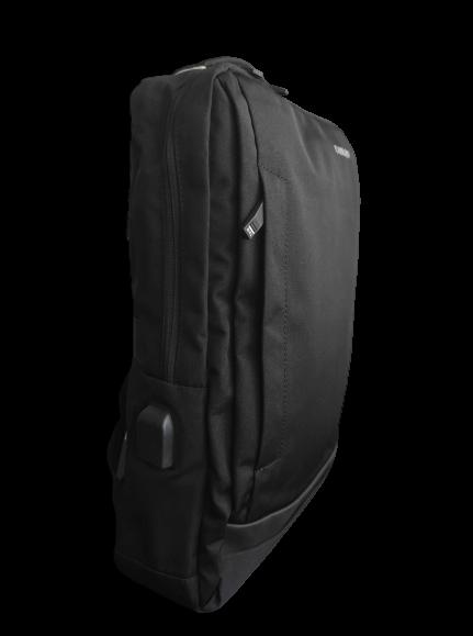 Ghiozdan tip Rucsac Profesional pentru Laptop cu Mufa Smart USB si AUX cu Mufa Jack- 7 Compartimente - Negru 1
