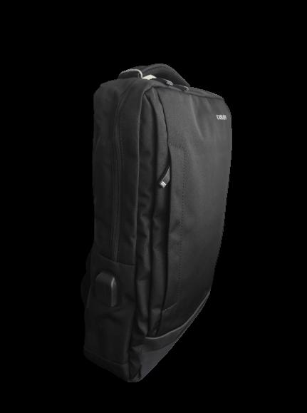 Ghiozdan tip Rucsac Profesional pentru Laptop cu Mufa Smart USB si AUX cu Mufa Jack- 7 Compartimente - Negru 5