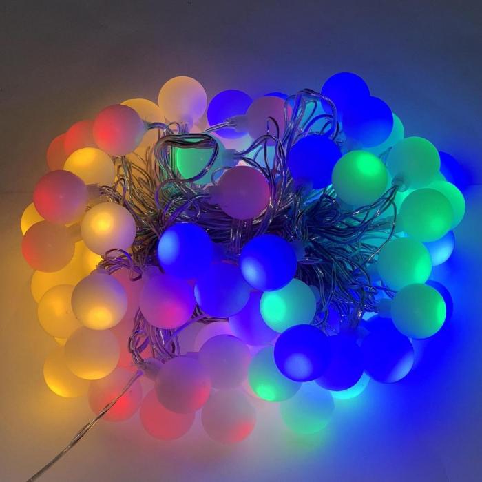 Instalatie Ghirlanda cu 20 de Becuri LED Color, cu Baterii [0]