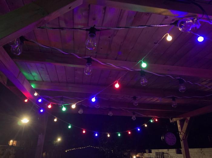 Instalatie Ghirlanda cu 20 de Becuri LED Color, cu Baterii [1]