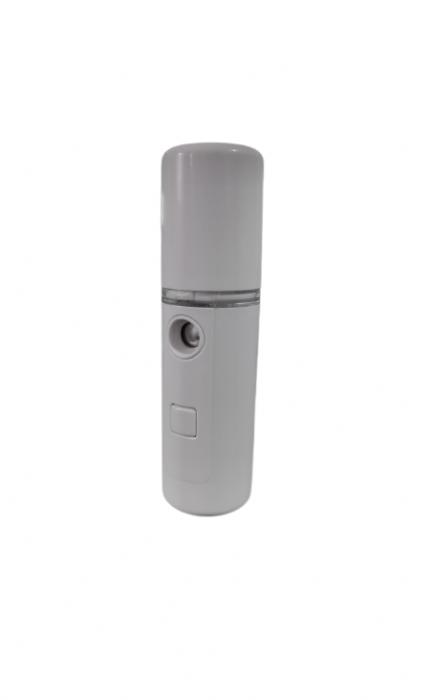 Dispozitiv 3in1 Pulverizator, Sterilizator, Umidificator cu Abur, 30ml, de Buzunar, cu Acumulator si USB, Alb [3]