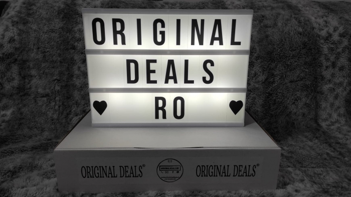 Caseta Luminoasa cu 100 de Litere, Cifre si Caractere Speciale, Personalizabila, cu 3 Baterii AA si Lumina Full LED, Premium, Original Deals 15