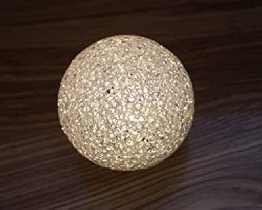 Lampa LED Decorativa cu Lumina Calda, Bulgare de Cristal cu Baterii Incluse, Alb 3