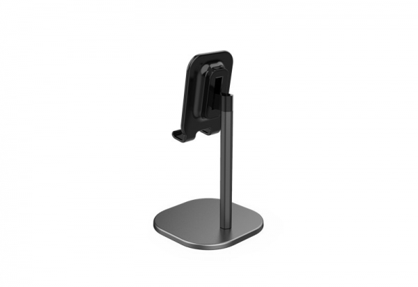 Suport Premium Metalic pentru Tableta sau Telefon cu Inaltime si Unghi de Vizualizare Reglabil - Negru 9