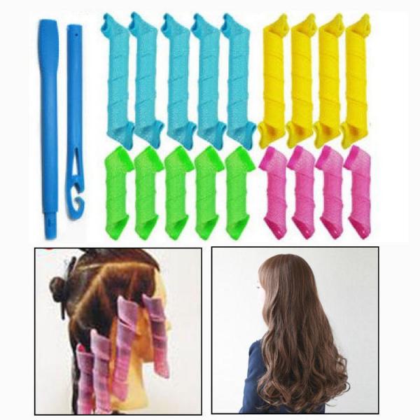 Set 18 Bigudiuri Flexibile Spiralate pentu Coafat Ondulat si Buclat Parul Scurt si Mediu - Multicolor 4