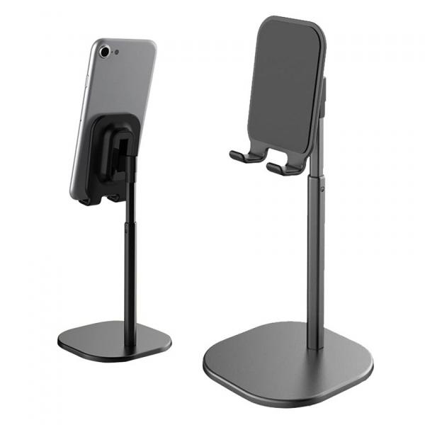 Suport Premium Metalic pentru Tableta sau Telefon cu Inaltime si Unghi de Vizualizare Reglabil - Negru 11