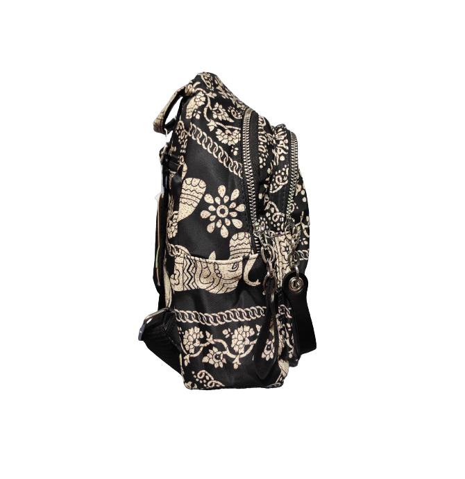 Ghiozdan cu 7 Buzunare si Bretele Ajustabile, Textil, Model Deosebit Premium, Imprimeu Elefant, Original Deals® [2]