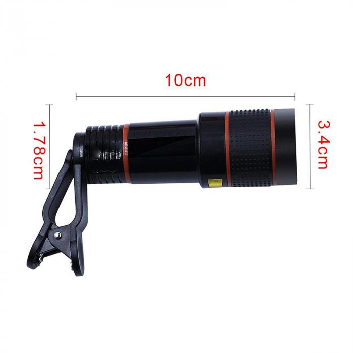 Telescop Lentila Optica Zoom 12x  Pentru Telefon Mobil sau Tableta  Obiectiv telefon Lentila Telefon  Fotografii  poze telefon [7]