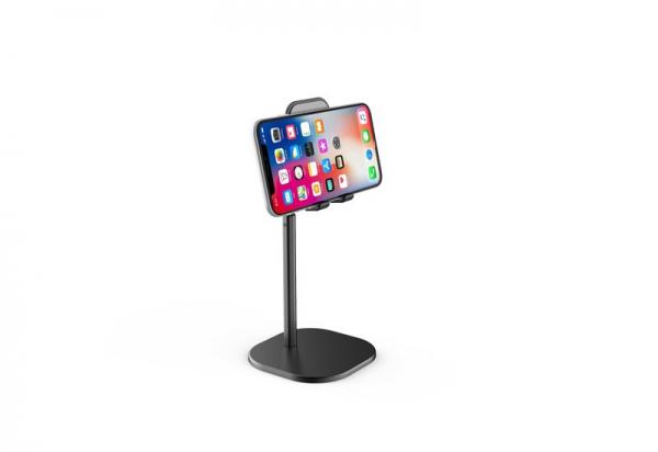 Suport Premium Metalic pentru Tableta sau Telefon cu Inaltime si Unghi de Vizualizare Reglabil - Negru 4
