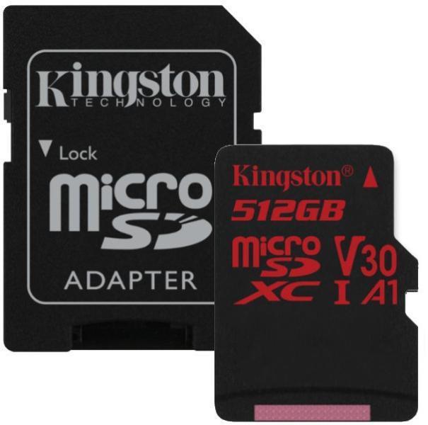 Card de Memorie Micro SD 512 GB, Compatibil Telefon, Tableta, Camera Foto si Video, Console Jocuri, Model Premium, Kingston [2]