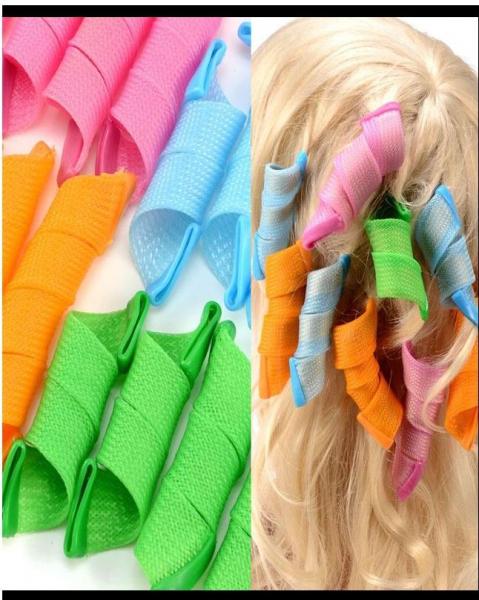 Set 18 Bigudiuri Flexibile Spiralate pentu Coafat Ondulat si Buclat Parul Scurt si Mediu - Multicolor [3]