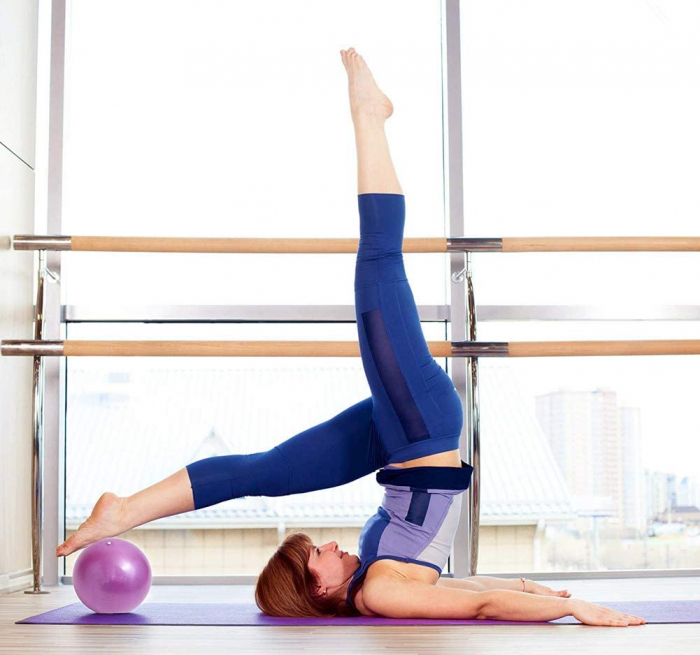 Minge Medicinala pentru Exercitii Fitness, Aerobic, Pilates, Yoga, Gonflabila, Premium 20cm, Rezistenta 100Kg [2]