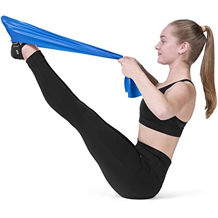 Banda Elastica de Rezistenta din Latex pentru Tonifiere Muschi Piept, Brate, Spate, Abdomen, Picioare, Albastru 1