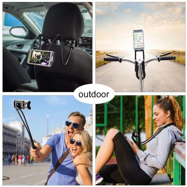 Suport Multifunctional Flexibil pentru Gat Reglabil compatibil Telefon sau Tableta Premium Vlog Universal 8