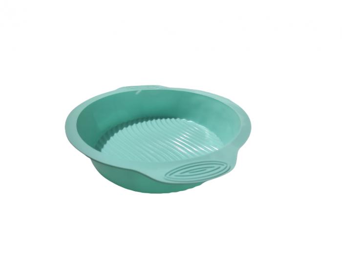 Forma pentru Prajituri si Dulciuri, din Silicon Non-Stick, 25cm, Turcoaz, Calitate Premium [1]