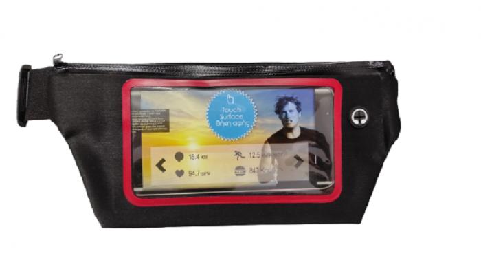 Borseta Sport pentru Alergare, cu Ecran Touch Screen pentru Telefon si Suport pentru Casti, 2 Compartimente, Curea Reglabila, Impermeabila, Premium 1