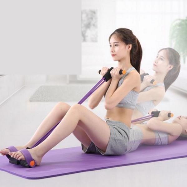 Aparat Extensor Fitness Multifunctional Premium, pentru Tonifiere Abdomen, Brate, Piept, Picioare, Ultra Portabil Elastic 0