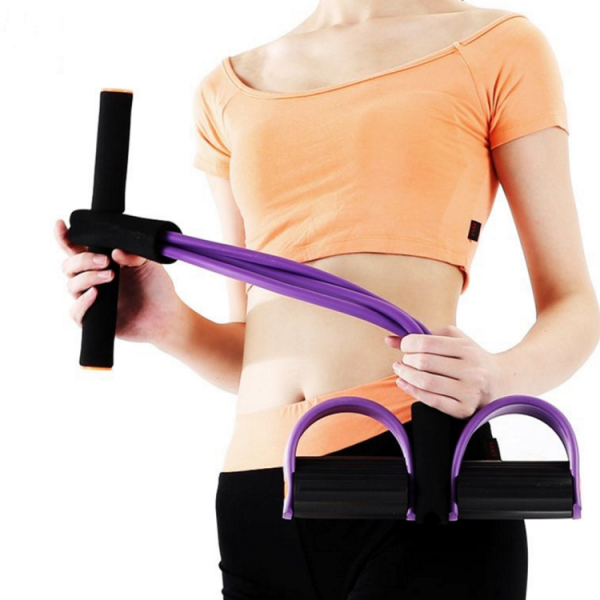 Aparat Extensor Fitness Multifunctional Premium, pentru Tonifiere Abdomen, Brate, Piept, Picioare, Ultra Portabil Elastic 5
